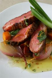 Crispy Duck Breast with Glazed Butternut Squash