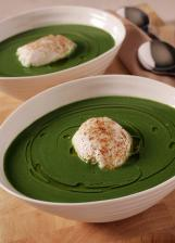 Derry Clarke's Cream of Spinach Soup with Nutmeg & Poached Egg