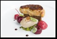 Seared Foie Gras, Pain d'epices, Parfait, Cherry, Pistachio