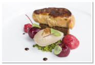 Seared Foie Gras, Pain d'epices, Parfait, Cherry, Pistachio