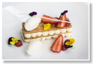 Mille-Feuille, Gariguette Strawberries, Vanilla Ice Cream